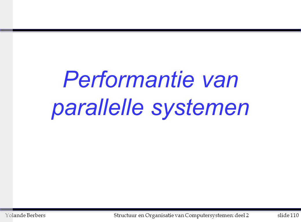 Performantie van parallelle systemen