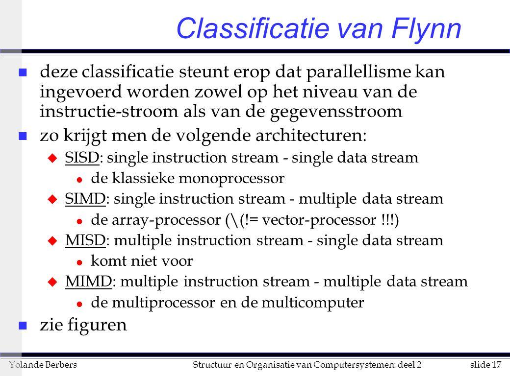 Classificatie van Flynn