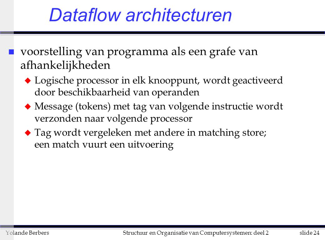 Dataflow architecturen