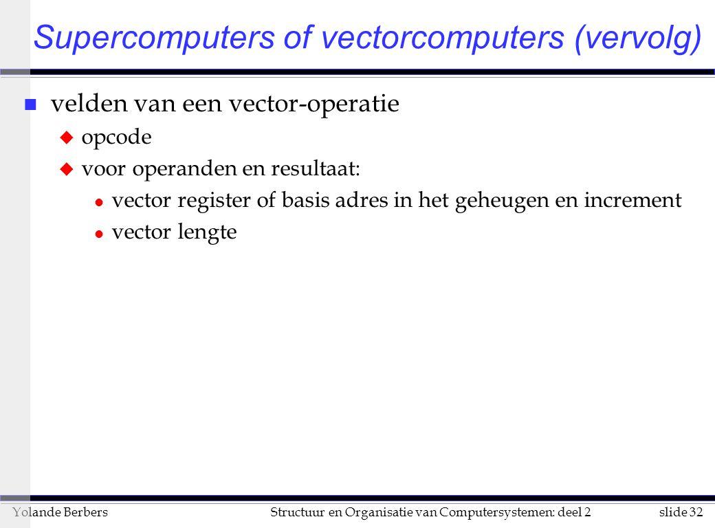 Supercomputers of vectorcomputers (vervolg)