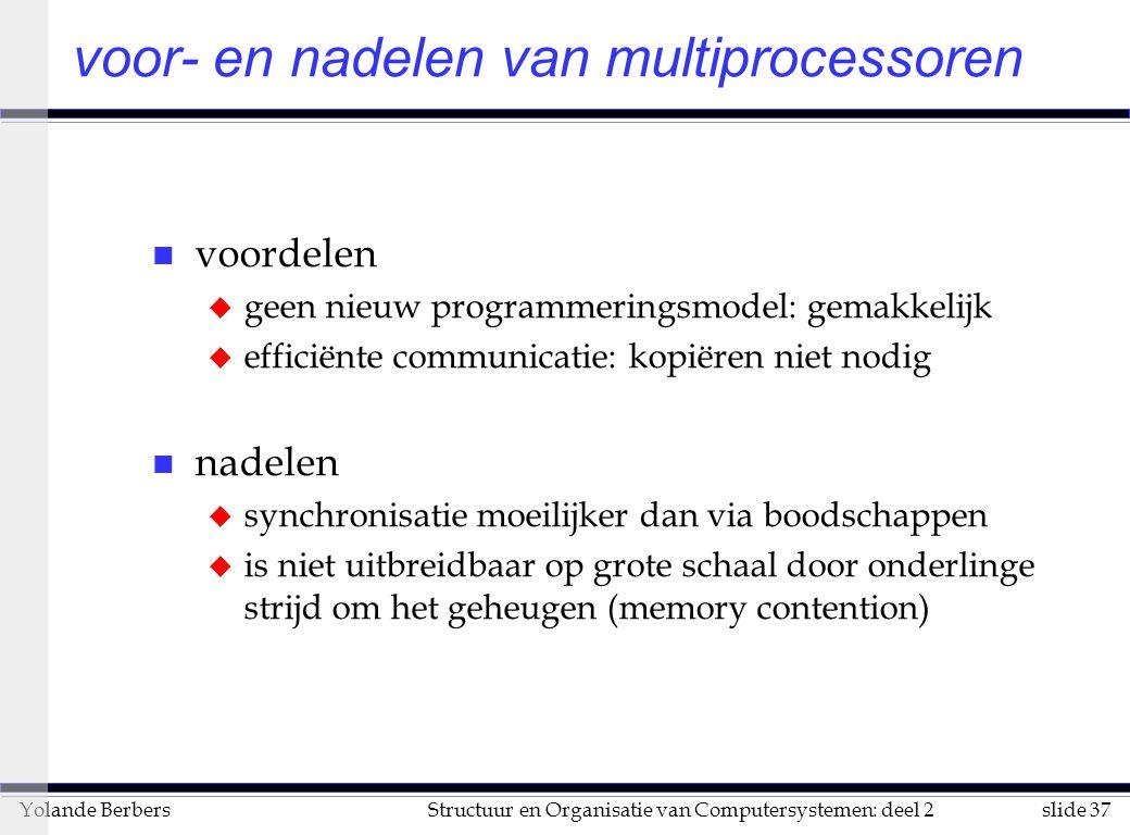 voor- en nadelen van multiprocessoren
