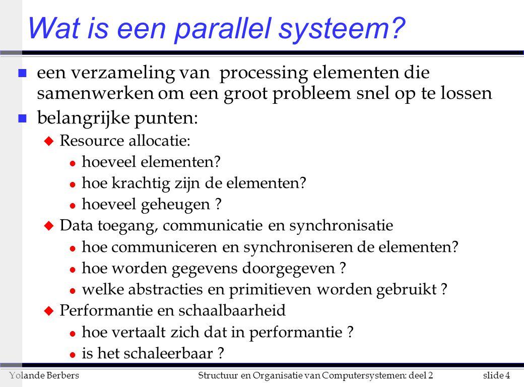 Wat is een parallel systeem