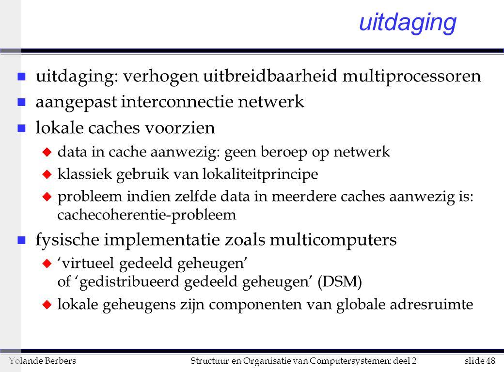 uitdaging uitdaging: verhogen uitbreidbaarheid multiprocessoren
