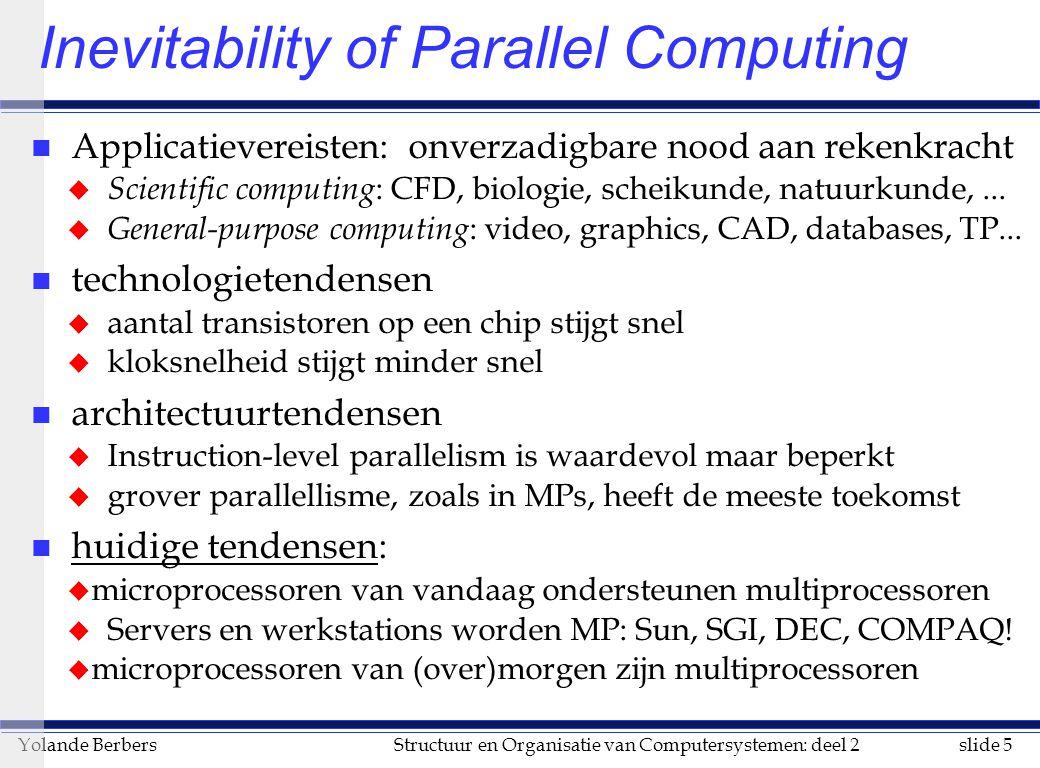 Inevitability of Parallel Computing