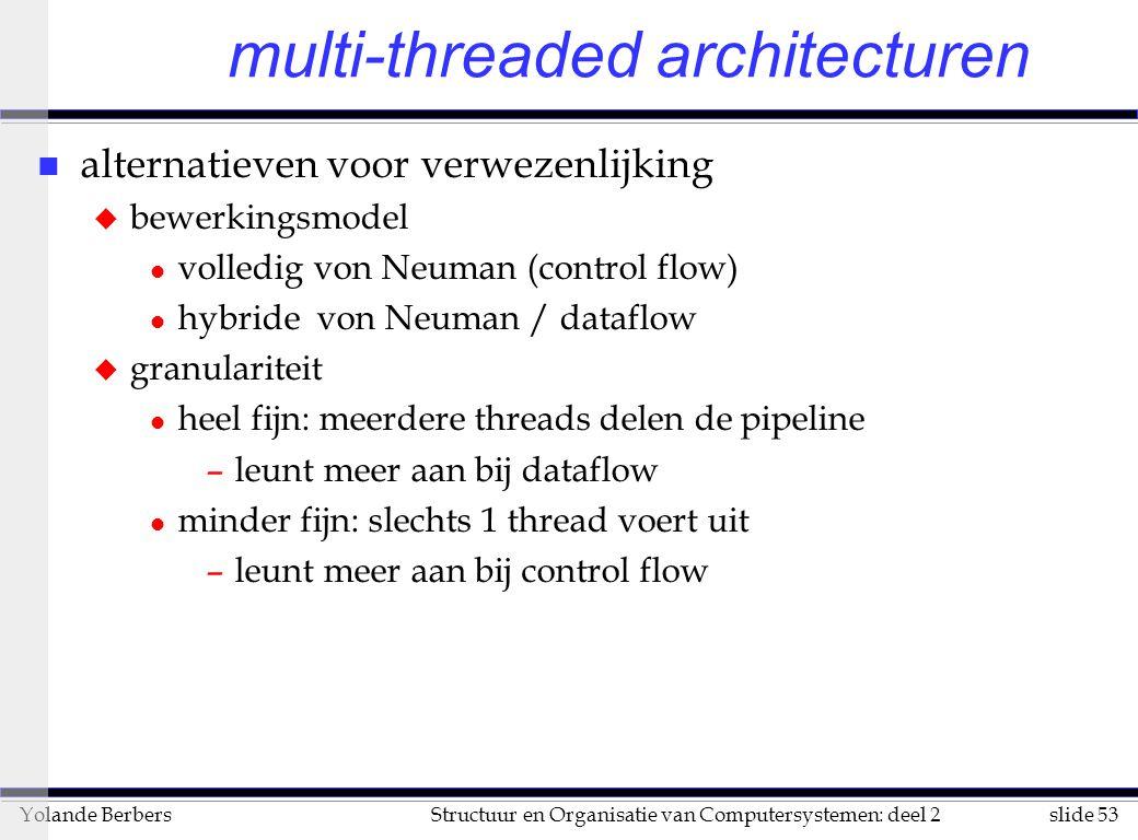 multi-threaded architecturen