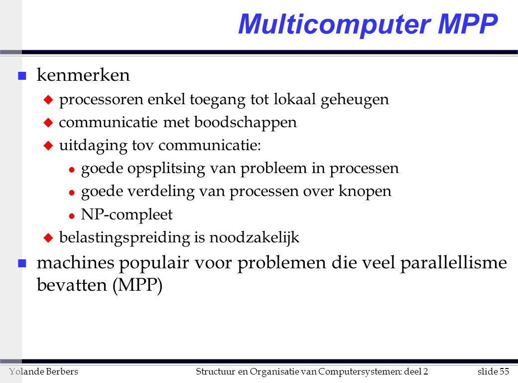 Multicomputer MPP kenmerken