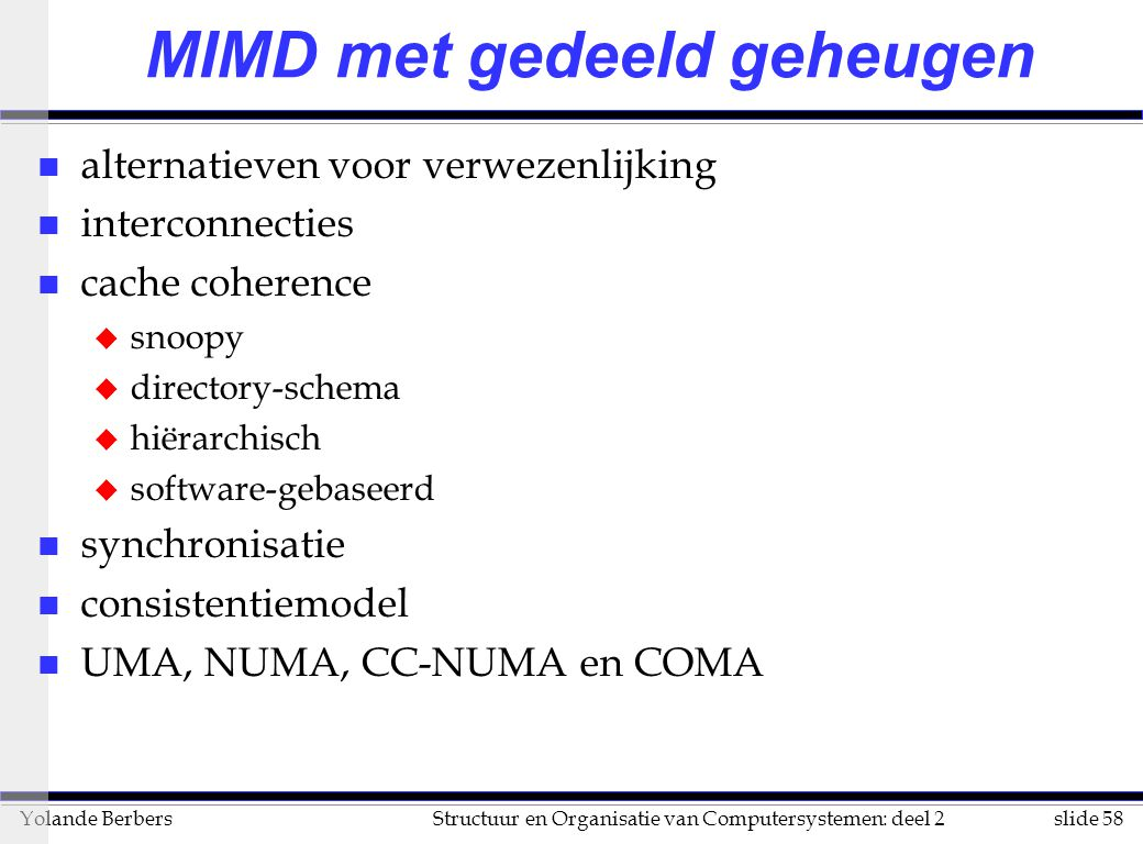 MIMD met gedeeld geheugen