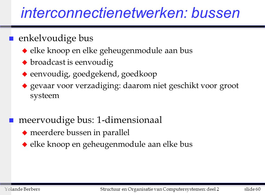 interconnectienetwerken: bussen