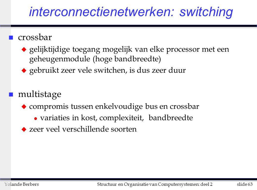 interconnectienetwerken: switching