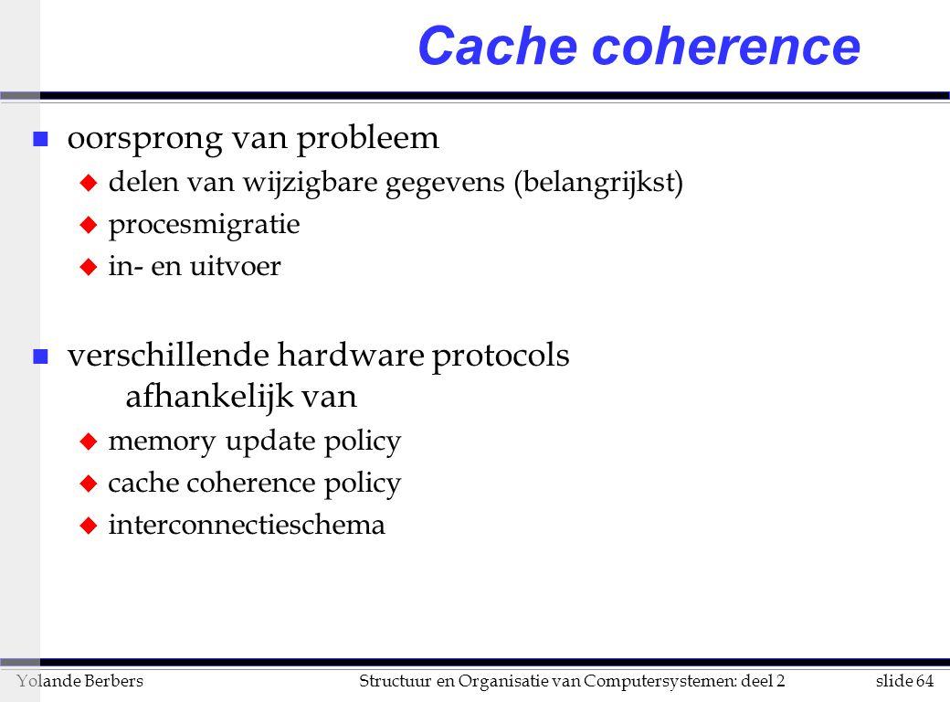 Cache coherence oorsprong van probleem