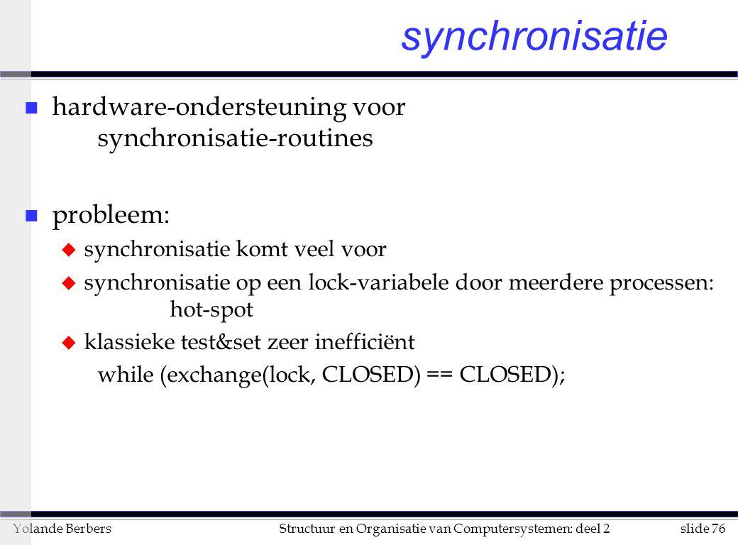 synchronisatie hardware-ondersteuning voor synchronisatie-routines