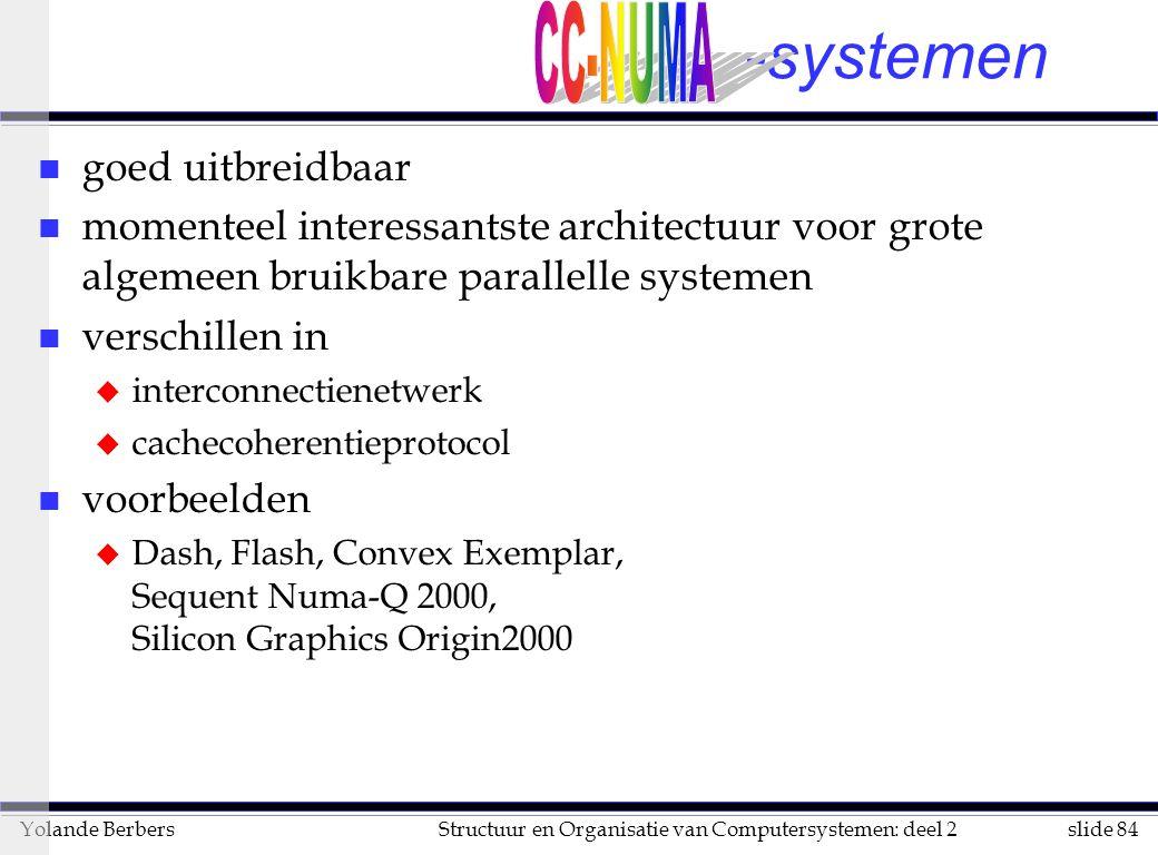 -systemen CC-NUMA goed uitbreidbaar