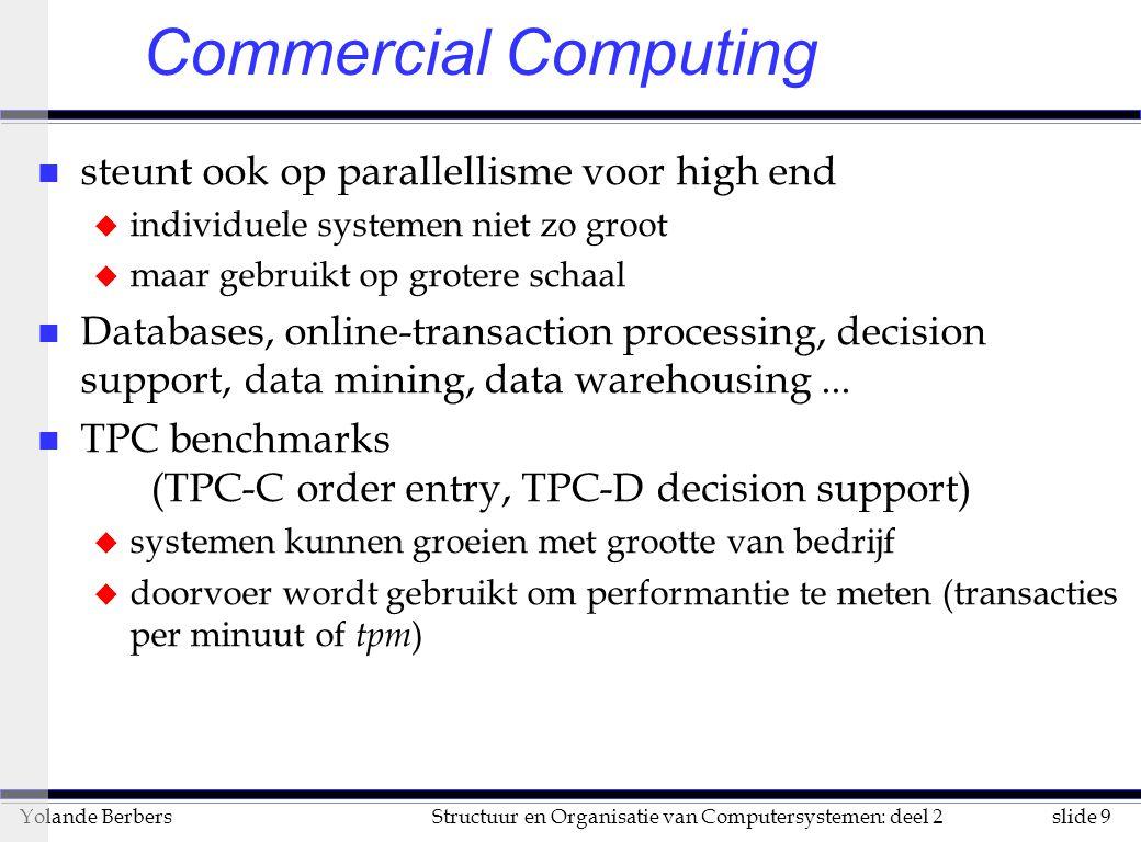 Commercial Computing steunt ook op parallellisme voor high end