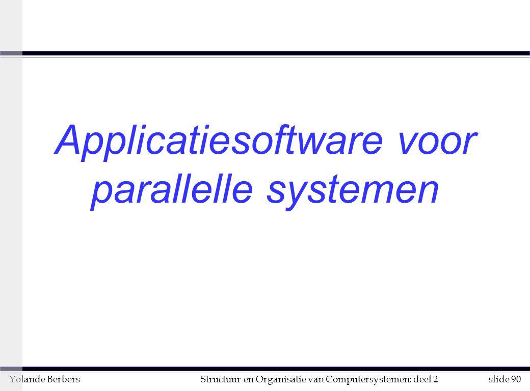 Applicatiesoftware voor parallelle systemen