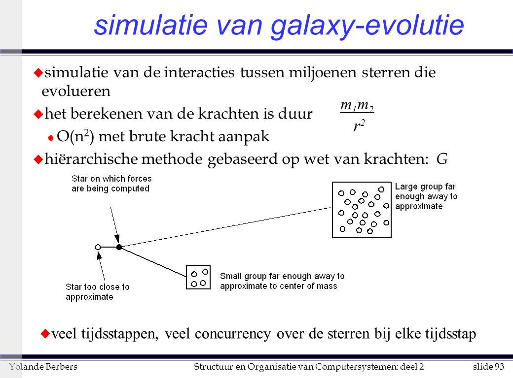 simulatie van galaxy-evolutie