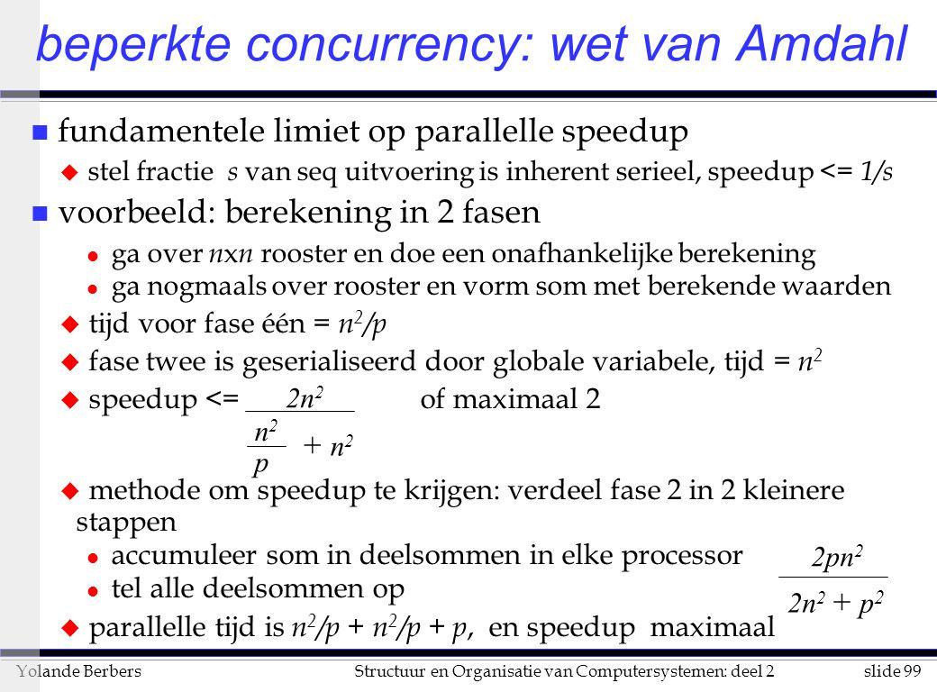 beperkte concurrency: wet van Amdahl
