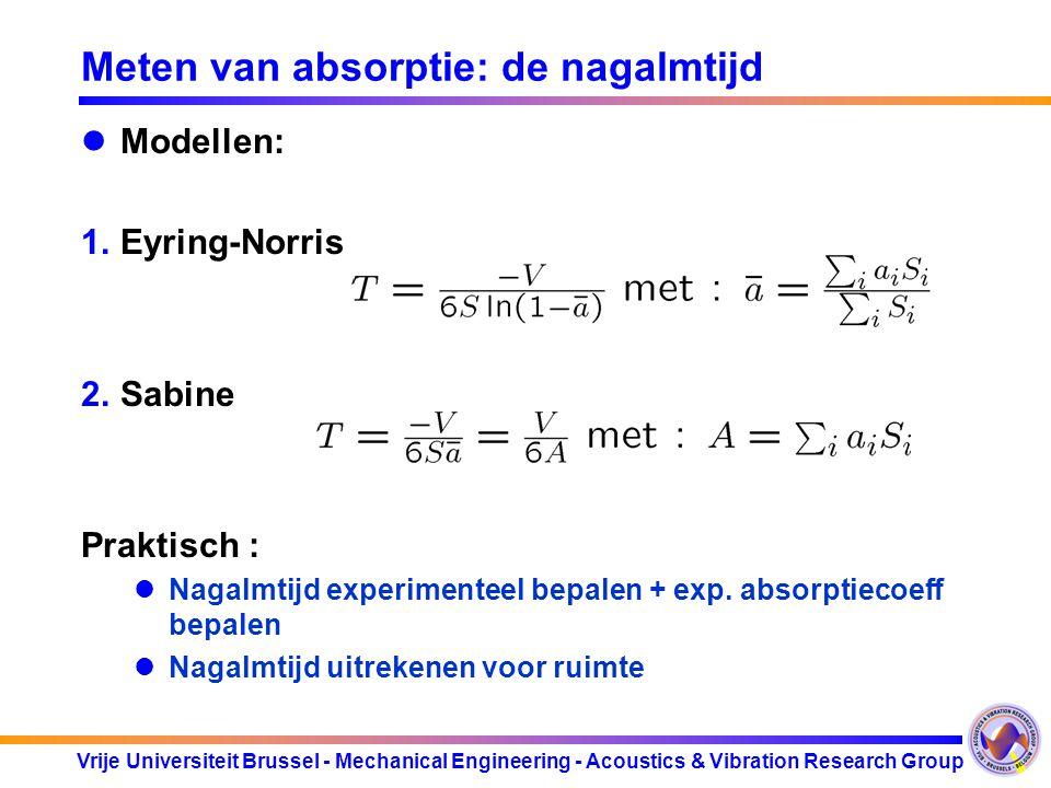 Meten van absorptie: de nagalmtijd
