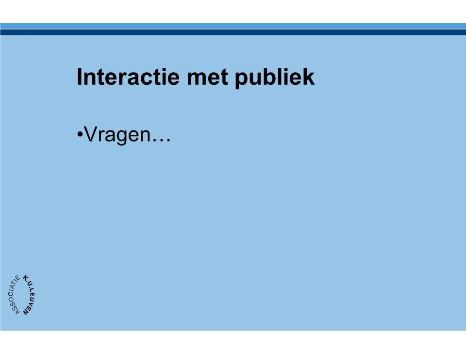 Interactie met publiek