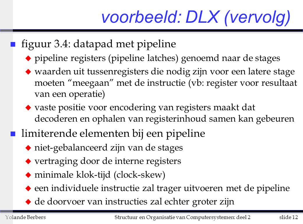 voorbeeld: DLX (vervolg)