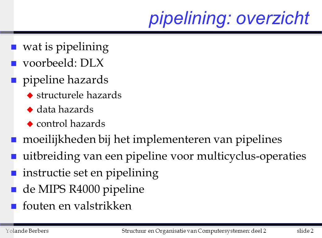 pipelining: overzicht