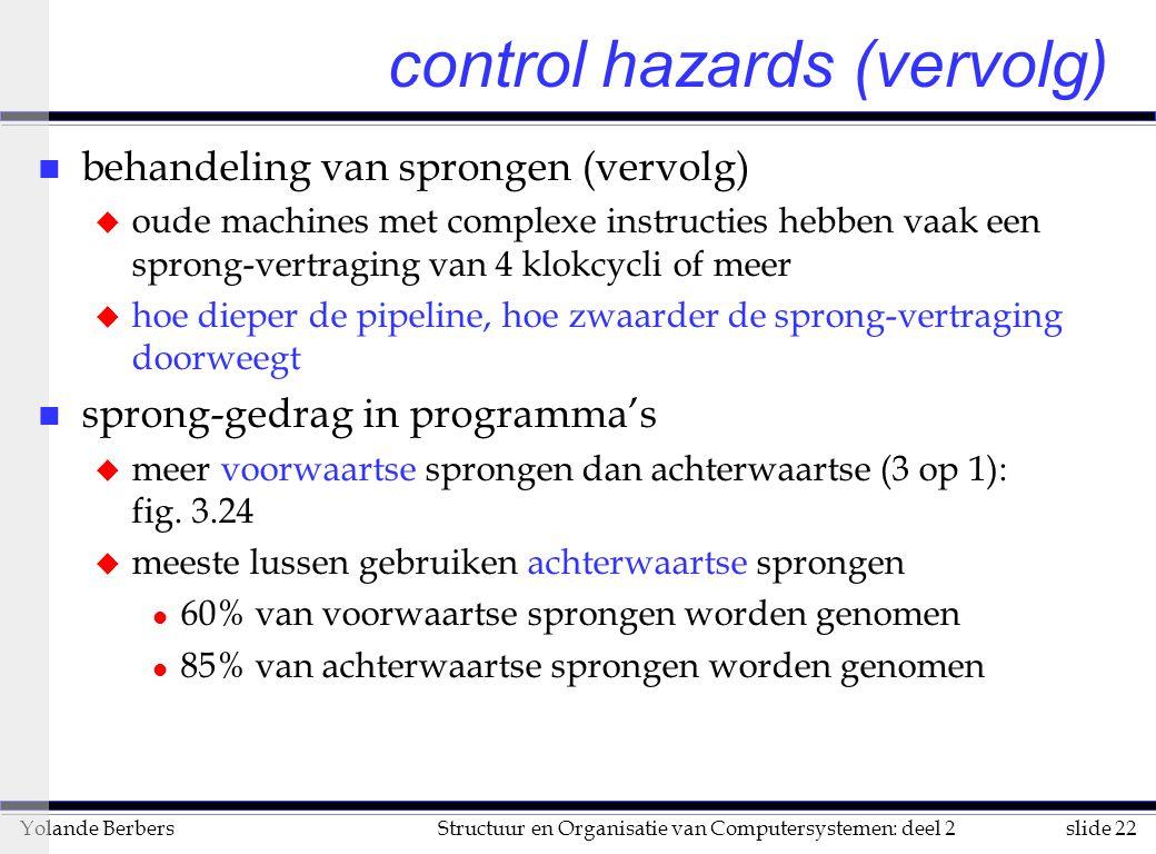 control hazards (vervolg)