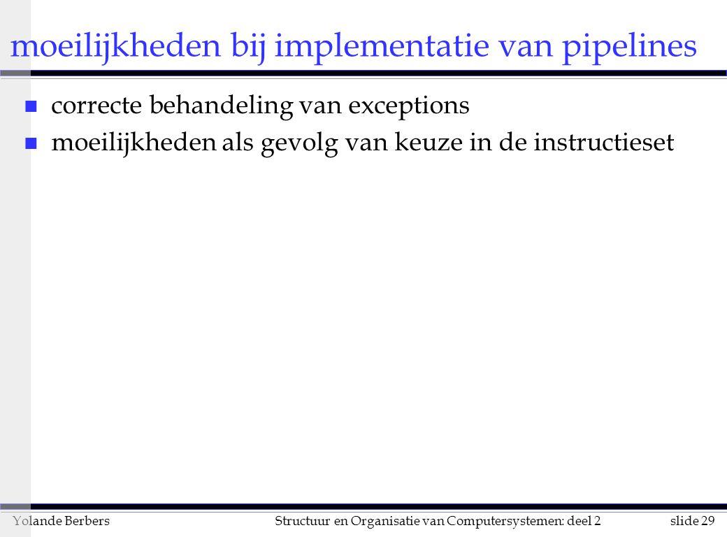moeilijkheden bij implementatie van pipelines