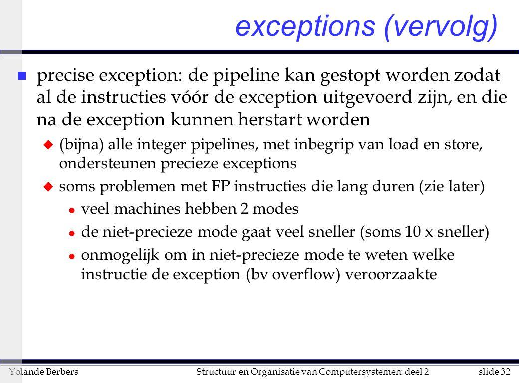 exceptions (vervolg)