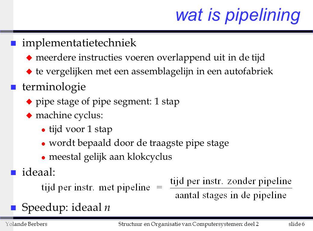 wat is pipelining implementatietechniek terminologie ideaal: