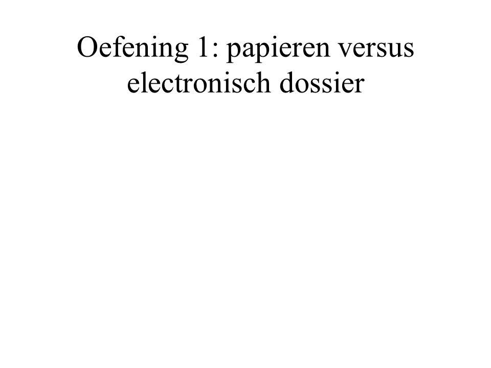 Oefening 1: papieren versus electronisch dossier