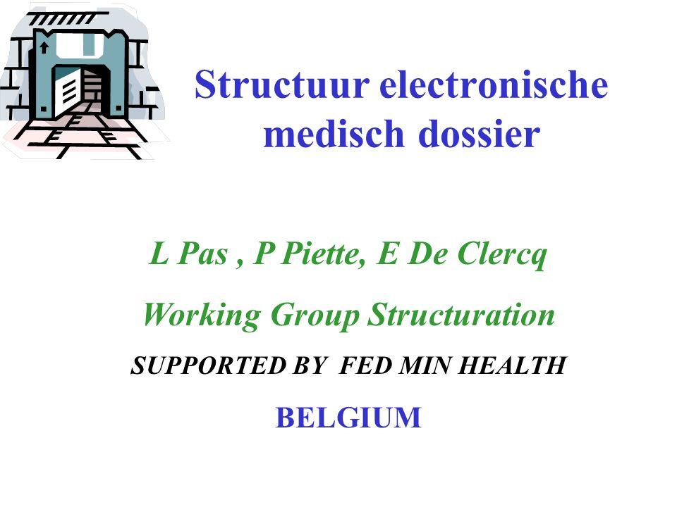 Structuur electronische medisch dossier
