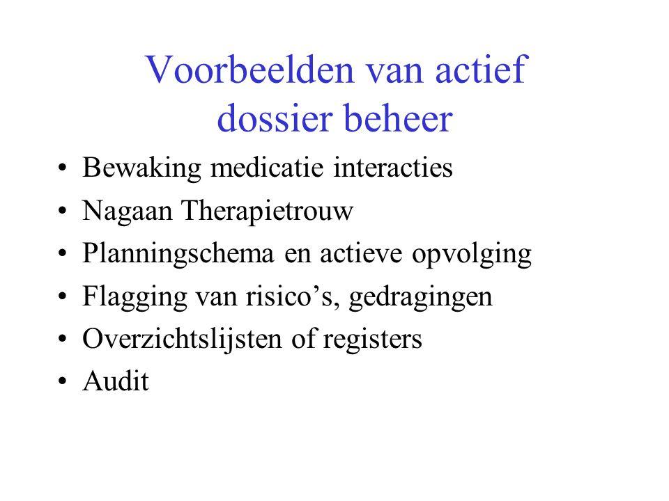 Voorbeelden van actief dossier beheer