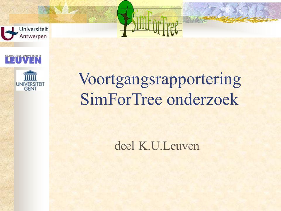 Voortgangsrapportering SimForTree onderzoek