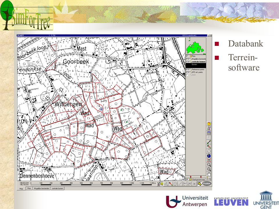 Databank Terrein-software