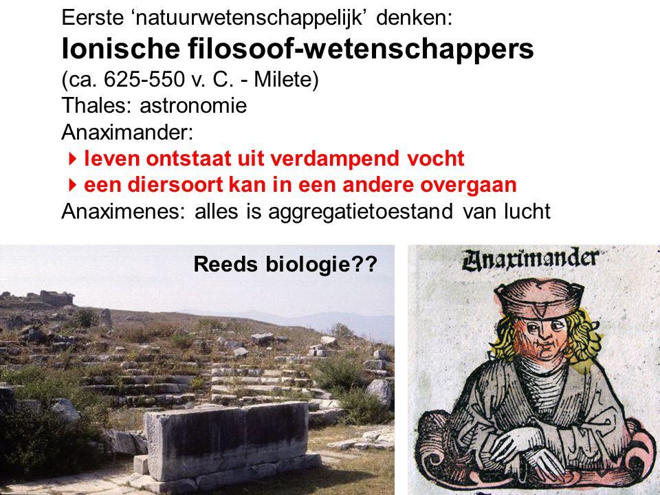 Ionische filosoof-wetenschappers