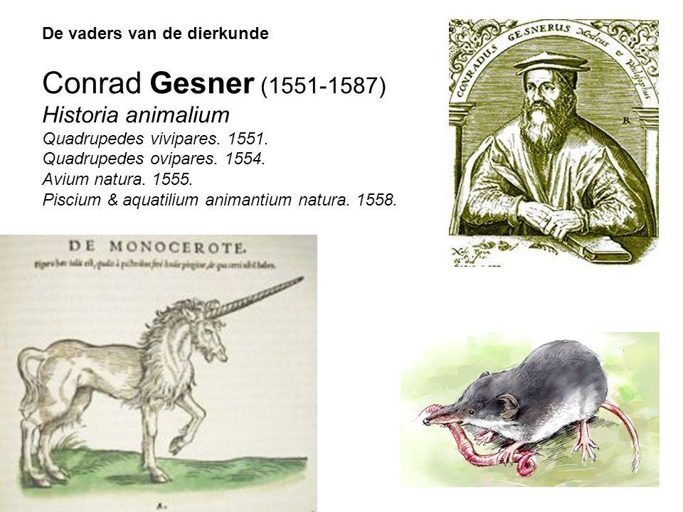 Conrad Gesner (1551-1587) Historia animalium