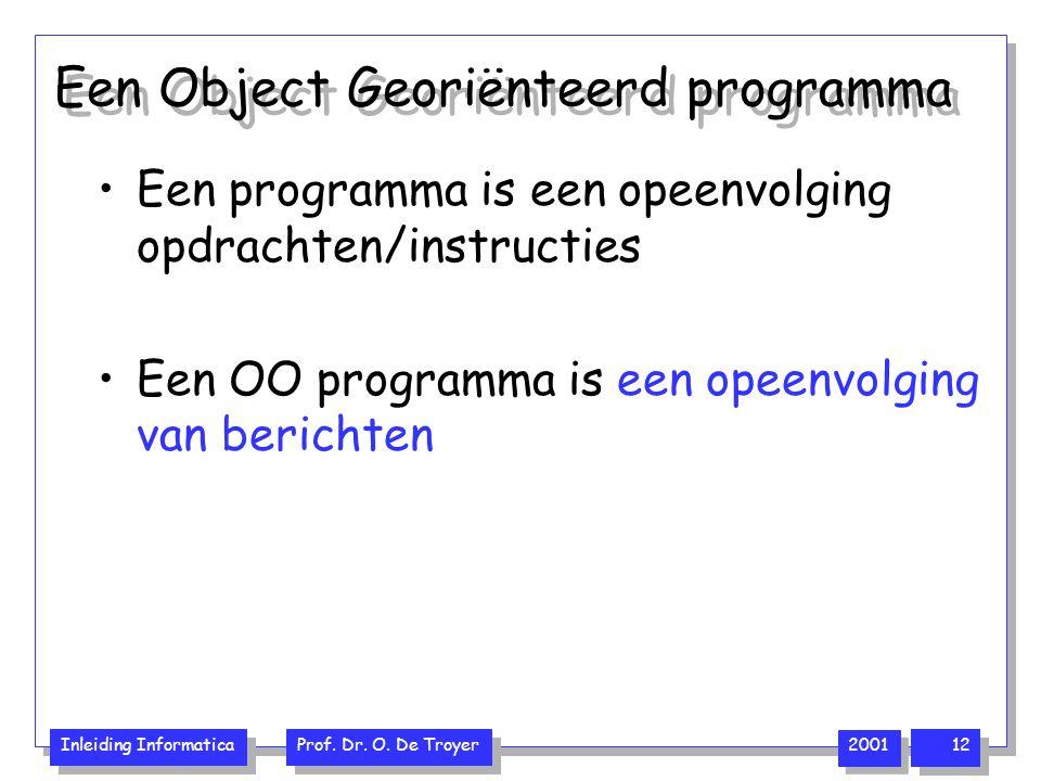 Een Object Georiënteerd programma