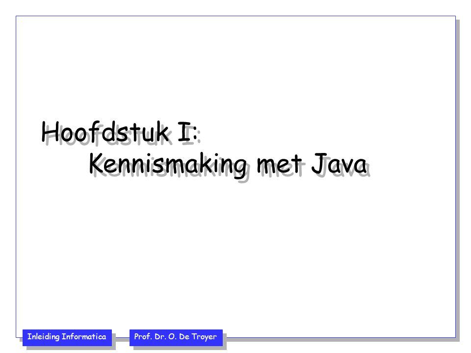 Hoofdstuk I: Kennismaking met Java