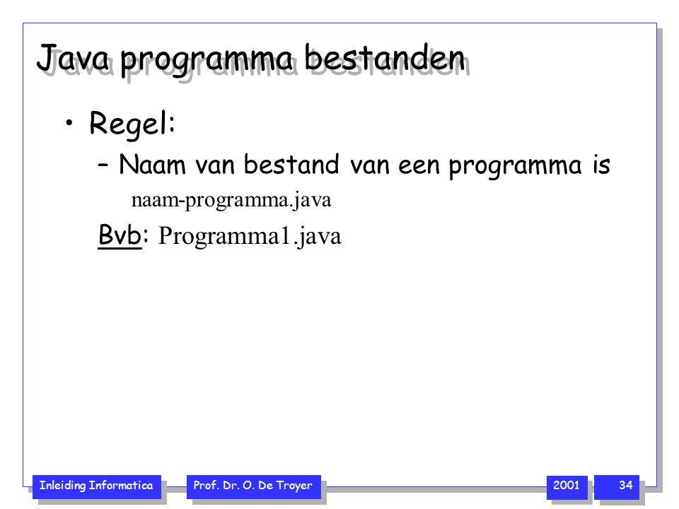 Java programma bestanden