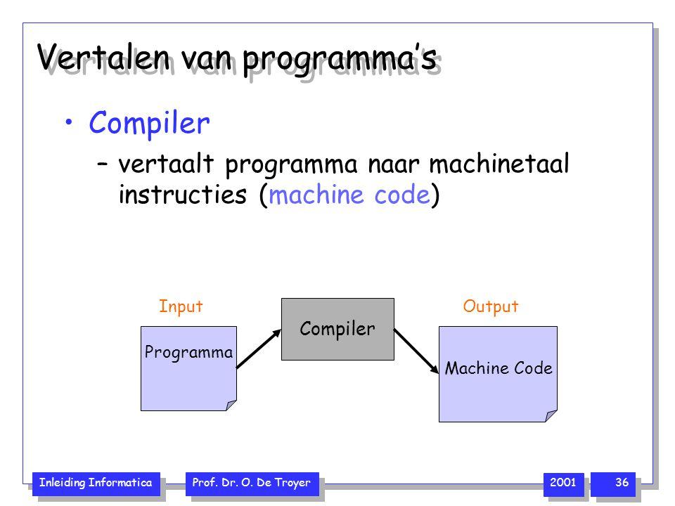 Vertalen van programma's