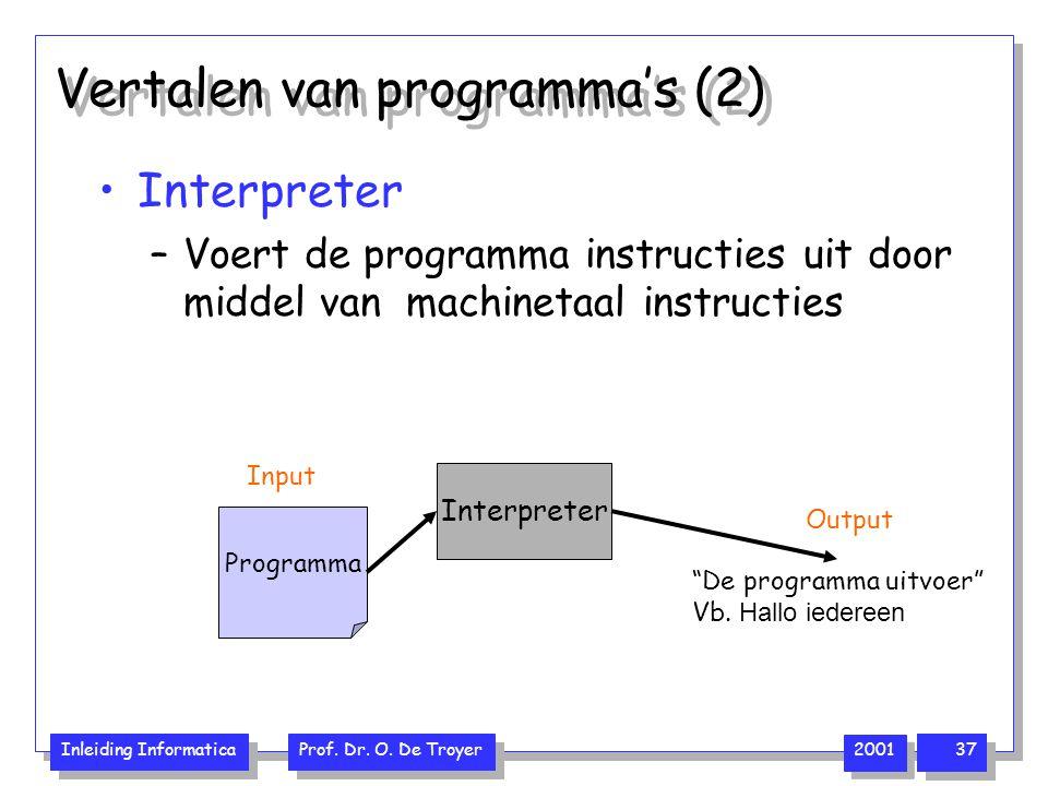 Vertalen van programma's (2)