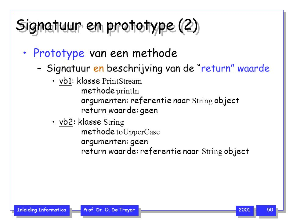 Signatuur en prototype (2)