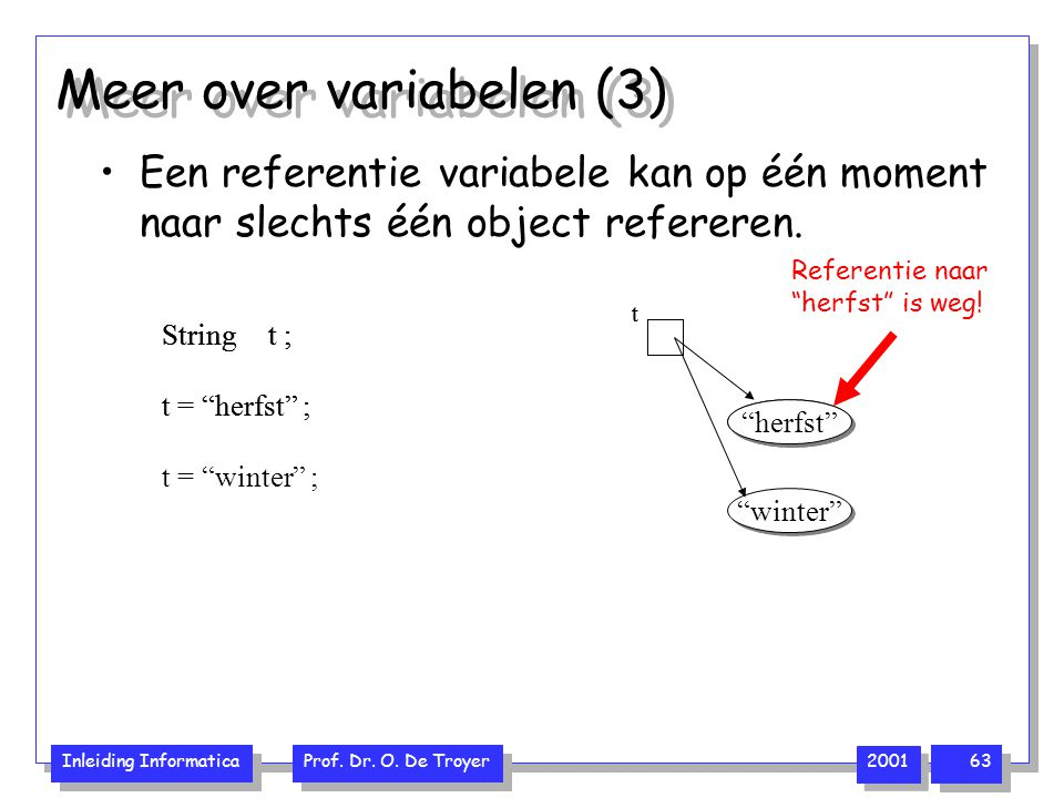 Meer over variabelen (3)
