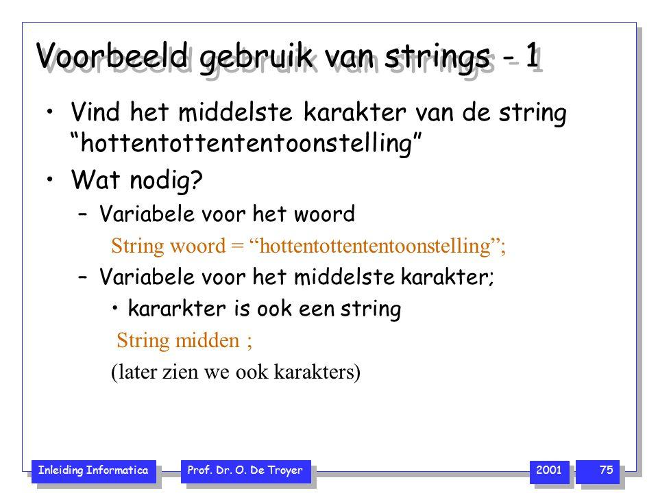 Voorbeeld gebruik van strings - 1