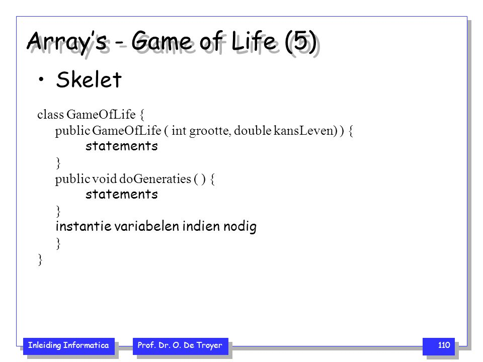 Array's - Game of Life (5)