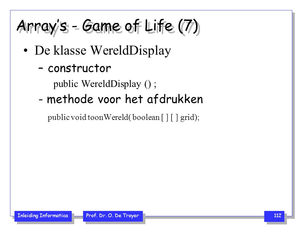 Array's - Game of Life (7)