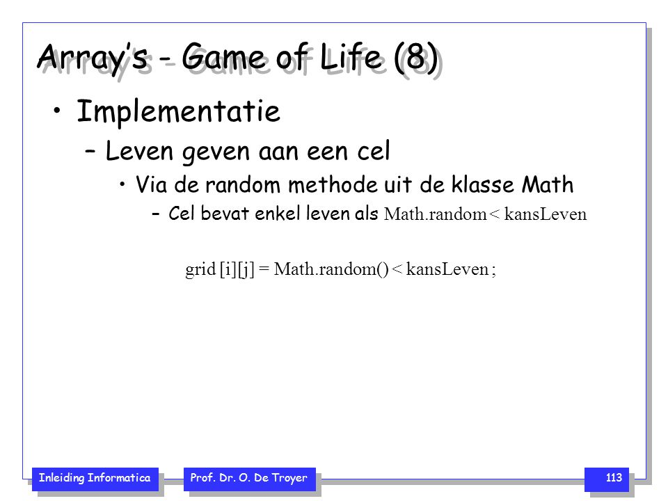 Array's - Game of Life (8)