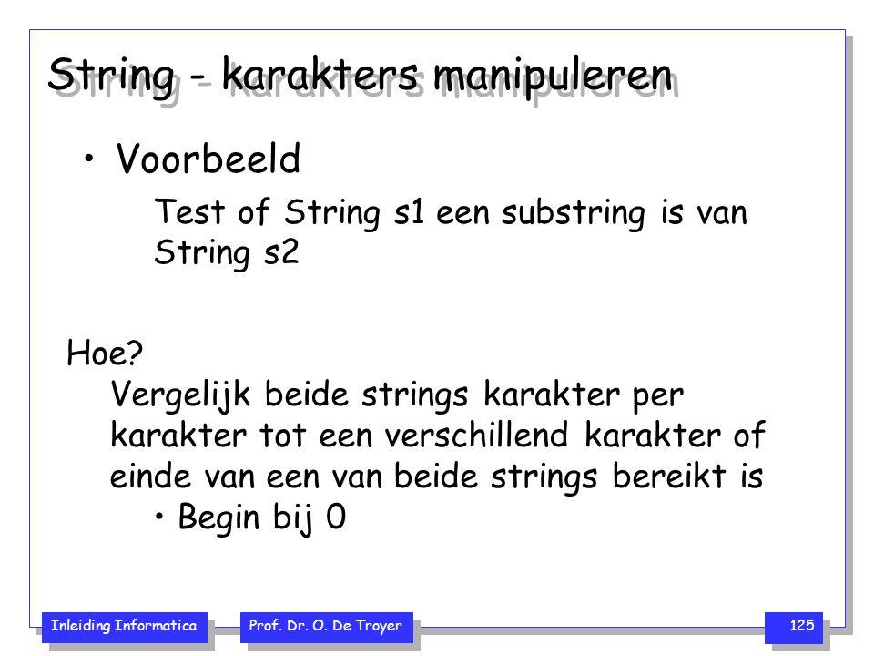 String - karakters manipuleren