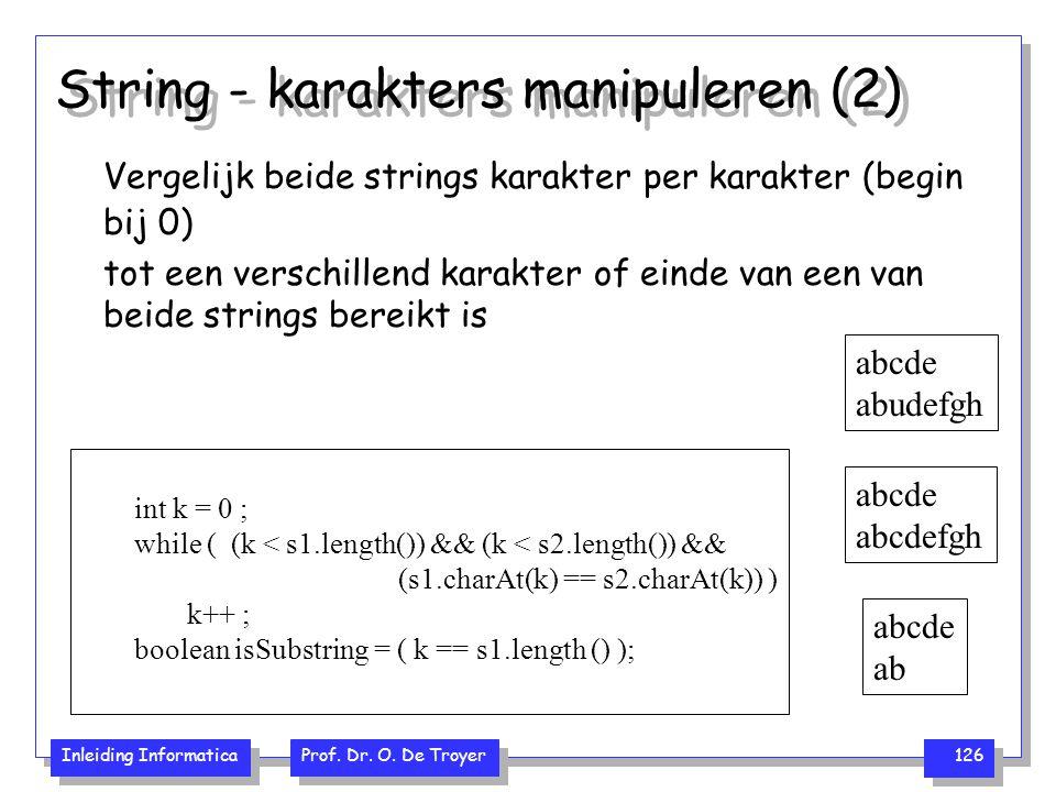 String - karakters manipuleren (2)