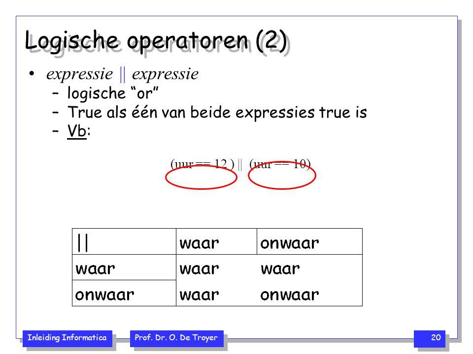 Logische operatoren (2)