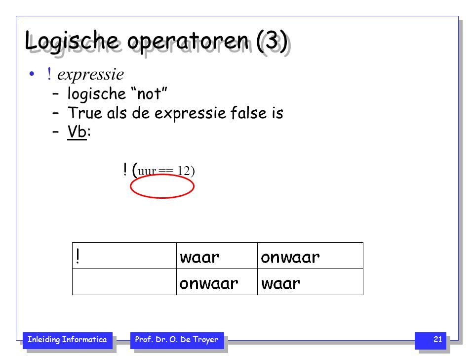 Logische operatoren (3)